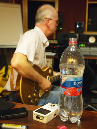 It used to be Marlboro & Jim Beam, now a tuner & mineal water...